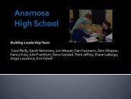 Anamosa High School - Anamosa Community School District