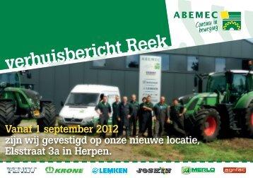 verhuisbericht Reek - Abemec