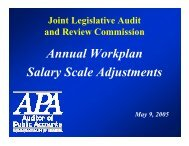 Briefing - Virginia Joint Legislative Audit and Review Commission