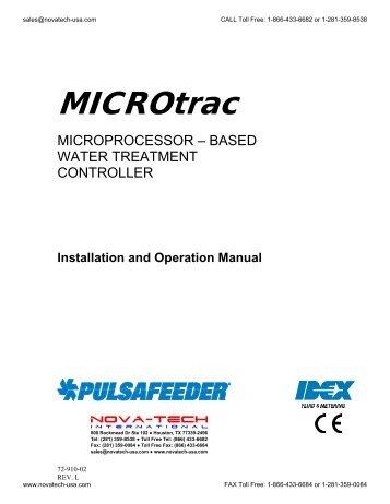 Pulsafeeder Microtrac Water Treatment Controller IOM - Nova-Tech ...