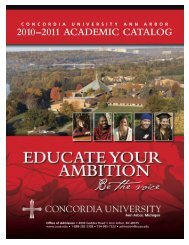 2010–2011 ACADEMIC CATALOG - Concordia University Ann Arbor