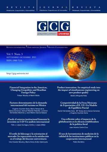 Vol. 5 Num. 3 - GCG: Revista de Globalización, Competitividad y ...