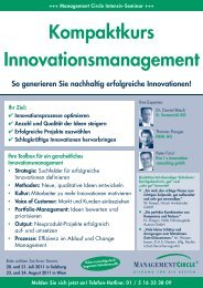 Seminar: Kompaktkurs Innovationsmanagement - Management ...