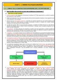 Impact de la construction européenne sur l'action publique (Cours ...