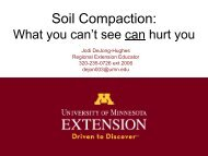 Soil Compaction and Rutting Effects on Crop Production