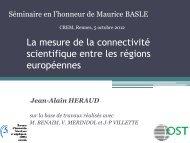 La connectivité scientifique locale-globale des régions ... - Crem