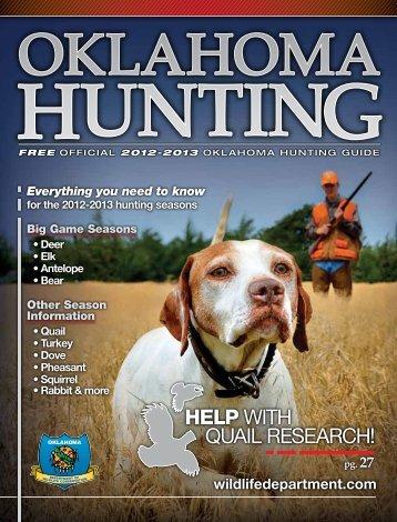 2012-2013 OklahOma hunting guide - TravelOK.com