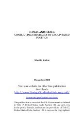 HAMAS and Israel: Conflicting Strategies of Group-Based Politics
