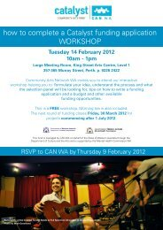 how to complete a Catalyst funding application WORKSHOP