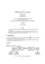 TP de sécurité Unix et réseau - L iberté est donnée à tous de lire, d ...