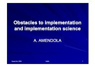 Obstacles to implementation and implementation ... - Nexus-idrim.net