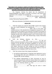 Board Resolution - Department of Biotechnology
