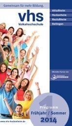 Programmheft 2014-1 - VHS Hockenheim