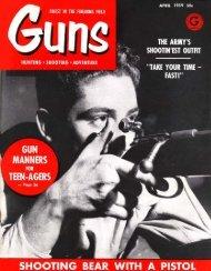 GUNS Magazine April 1959