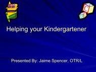 Helping your Kindergartener - Levittown Public Schools