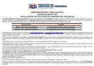 processo seletivo - edital n° 02/2013 comunicado nº ... - Instituto Mais