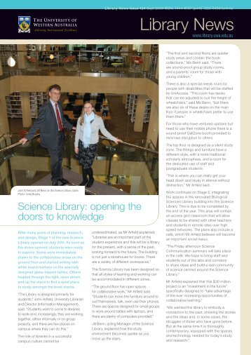 Library News - The University of Western Australia