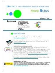 Zoom actus - centre ressources information jeunesse rhone-alpes