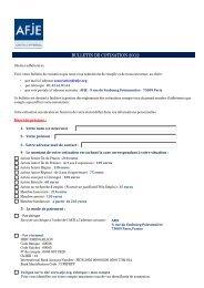BULLETIN DE COTISATION 2012 - AFJE
