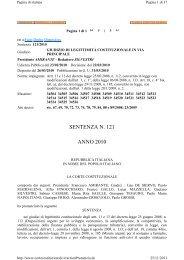 SENTENZA N. 121 ANNO 2010 - Dipecodir.it