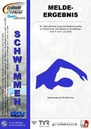Meldeergebnis - TSV Lindau 1850 e.V. - Abteilung Schwimmen
