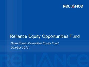 Presentation - Reliance Mutual Fund