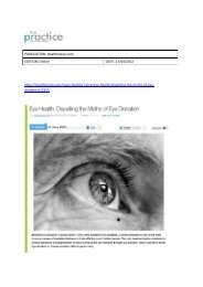 Coverage_Eye health Dispelling the myths of eye ...