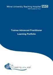 Trainee Advanced Practitioner Learning Portfolio