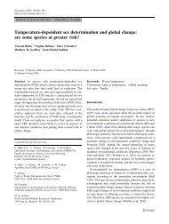 Temperature-dependent sex determination and ... - Seaturtle.org
