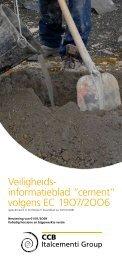 """Veiligheids- informatieblad """"cement"""" volgens EC 19O7/2OO6 - CCB"""