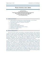 PARAS MANDAL, Ph.D., MIEEE - University of Texas at El Paso