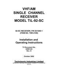 TSR-4100 - Dallas Avionics, Inc.