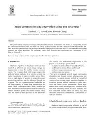 Image compression and encryption using tree structures 1