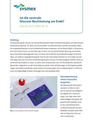 Ist die zentrale Glucose-Bestimmung am Ende? - Sysmex ...