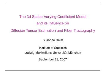 The 3d Space-Varying Coefficient Model and its Influence on ...