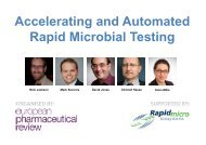 Accelerating and Automated Rapid Microbial Testing - European ...