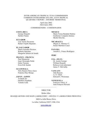 QR02-2 - Comisión Interamericana del Atún Tropical