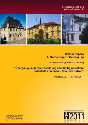 Call for Papers Aufforderung zur Beteiligung - Logo Hochschultage ...