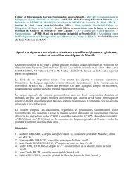 Texte et signataires - Culture et bilinguisme de Lorraine