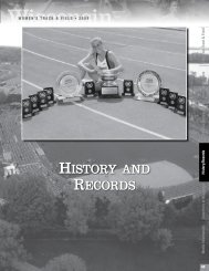 HISTORY AND RECORDS HISTORY AND ... - UWBadgers.com