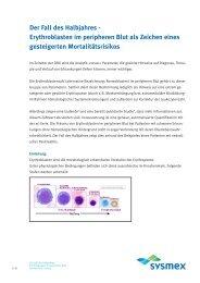 Der Fall des Halbjahres - Erythroblasten im peripheren Blut  als ...