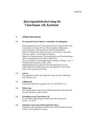 Järnvägsbeskrivning för Vänerhamn AB Karlstad