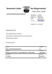 Ergänzungsvorlage - Gemeinde Lindlar