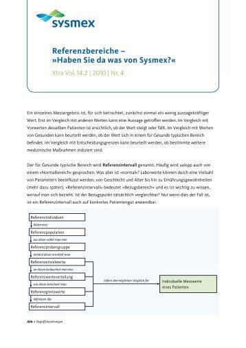 Referenzbereiche – »Haben Sie da was von Sysmex?«