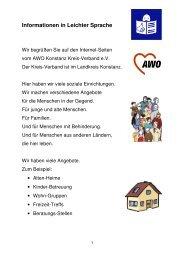 Informationen in Leichter Sprache - AWO - Kreisverband Konstanz eV