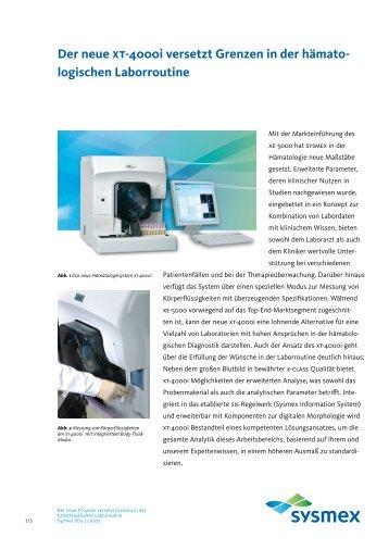 Der neue xt-4000i versetzt Grenzen in der hämato - Sysmex ...