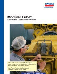 Modular Lube® Lubrication Systems Divider Valves - Dean Industrial