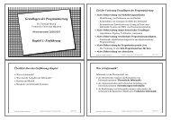 Grundlagen der Programmierung Kapitel 1: Einführung - TUM