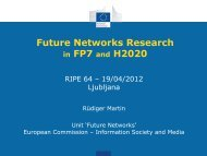 Future Networks Research in FP7 and H2020 - RIPE 64