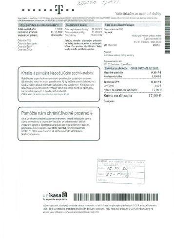 Mesačné poplatky - Ceit